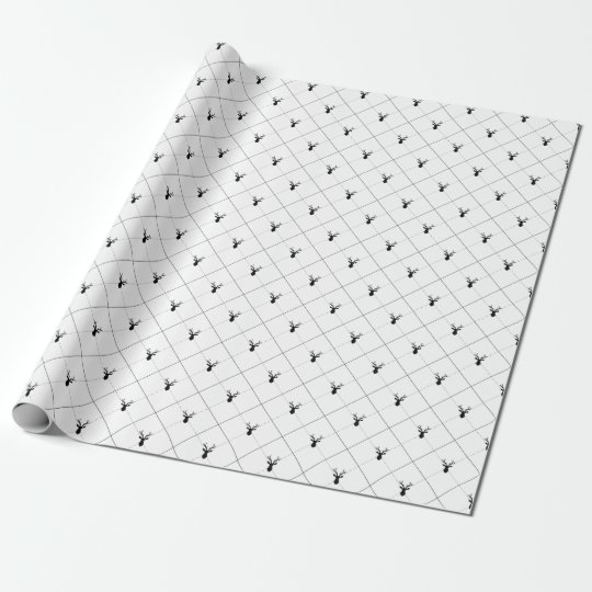 BLACK DEER ARGYLE WRAPPING PAPER