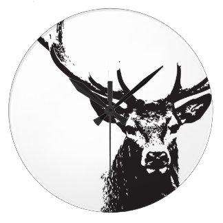Black deer ı wall clock