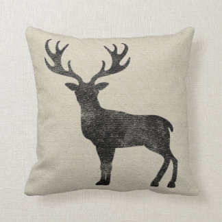 Black Deer Pillow