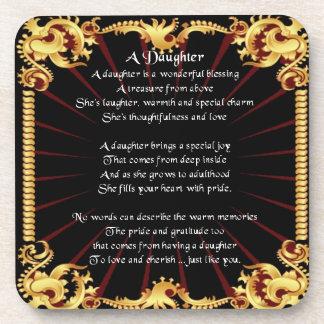 Black Design - Daughter Poem Coaster