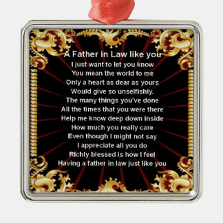 Black design   Father in Law Poem Christmas Ornament