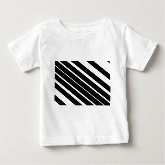 Black diagonal stripes.gif baby T-Shirt