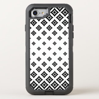 Black Diamond Geometric Shapes OtterBox Defender iPhone 8/7 Case