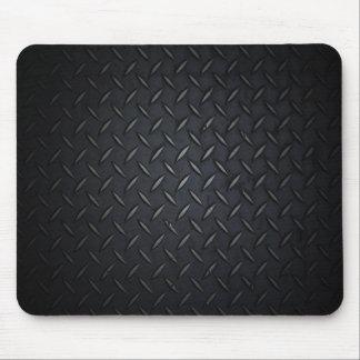 Black Diamond Plate Metal Mouse Pad