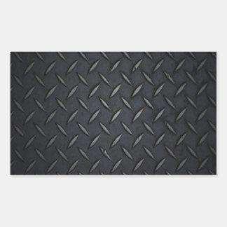 Black Diamond Plate Metal Sticker