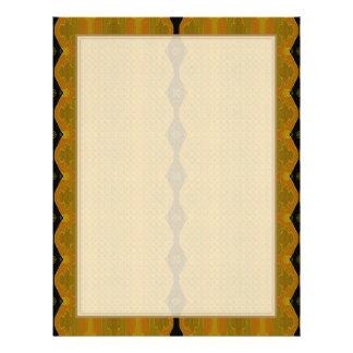 Black Diamond Stripe on Gold and Green 21.5 Cm X 28 Cm Flyer