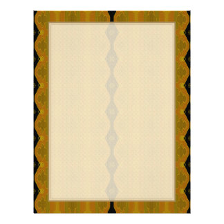 Black Diamond Stripe on Gold and Green 21.5 Cm X 28 Cm Flyer