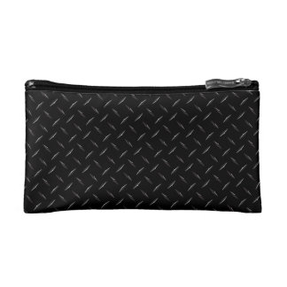 Black Diamondplate Cosmetic Bags