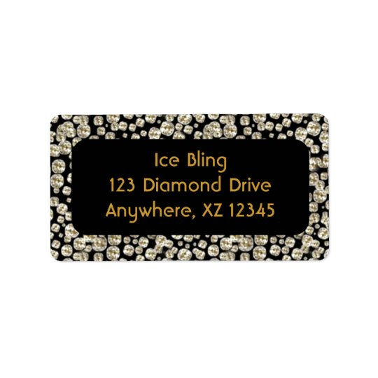 Black Diamonds Address Label