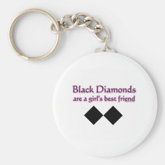 Black diamonds are a girls best friend key ring