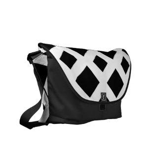 Black Diamonds on White Courier Bag