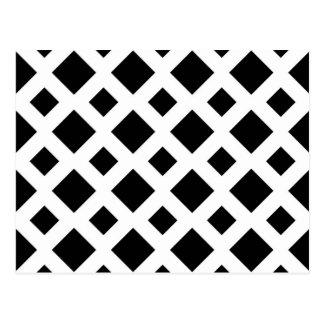 Black Diamonds on White Postcard