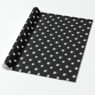 Black diamonds wrapping paper