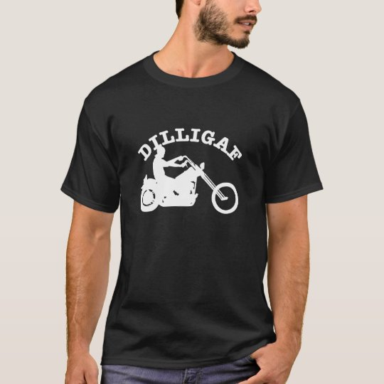 Black  Dilligaf Chopper T-Shirt