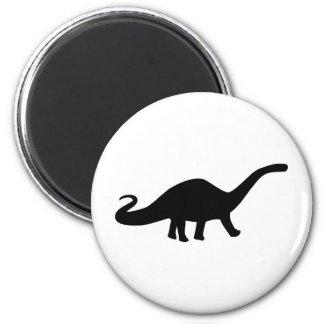 black dinosaur icon 6 cm round magnet