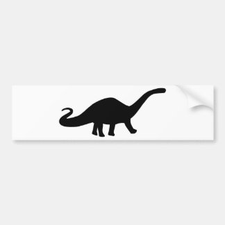 black dinosaur icon bumper sticker