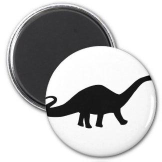 black dinosaur icon magnet