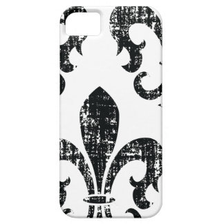 Black distressed fleurdelis stylish iphone 5 case