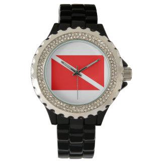 Black Dive Flag Watch