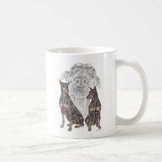Black Doberman Dogs Coffee Mug