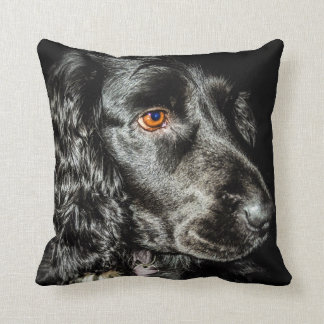 Black dog cushion