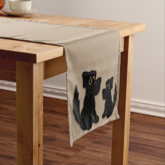 Black Dog Family Short Table Runner