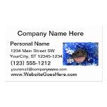 Black Dog Nose with Blue Tinsel Tongue Out Business Card