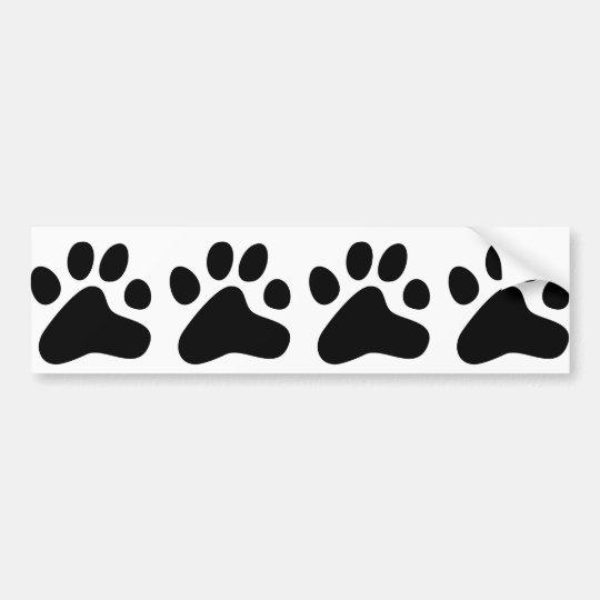 Black Dog Paws Bumper Sticker