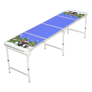 Black Dogs Christmas Beer Pong Table