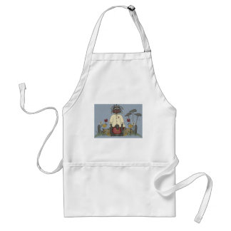 Black Doll and Crows Standard Apron