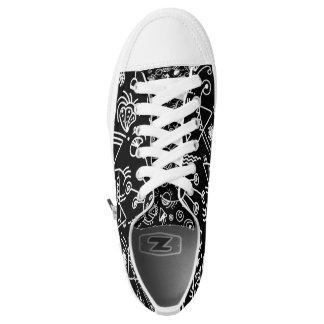 black doodle sneakers
