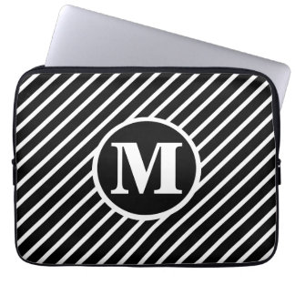 Black Dot DS Monogram Laptop Sleeve