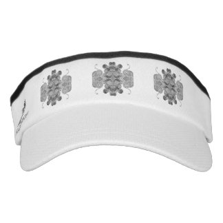 Black dot pattern design visor. visor
