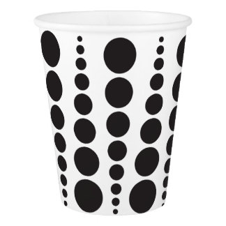 BLACK DOT PRINT. CUSTOMIZABLE BACKGROUND PAPER CUP