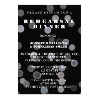 Black Dot rehearsal dinner invitations