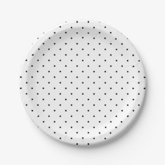 Black Dots Chic Party Paper Plates