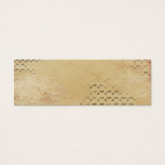 Black Dots torn Kraft Paper collage background Mini Business Card