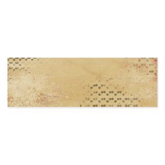 Black Dots torn Kraft Paper collage background Pack Of Skinny Business Cards