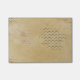 Black Dots torn Kraft Paper collage background Post-it Notes