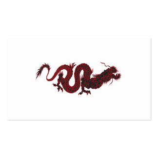 Black dragon business card template
