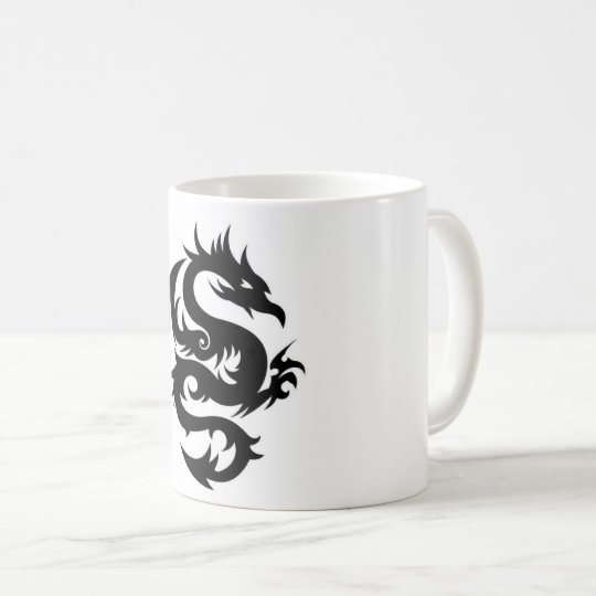Black dragon coffee mug
