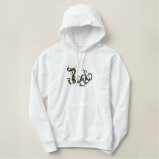 Black Dragon Embroidered Hoodie