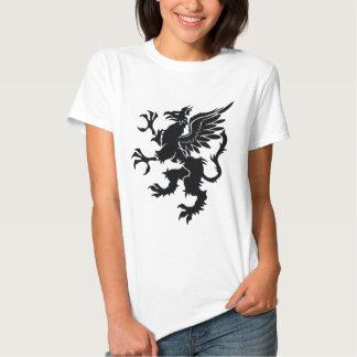 Black dragon Heraldry Tee Shirt