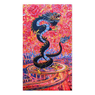 Black Dragon Little Calendar Card Business Card Templates