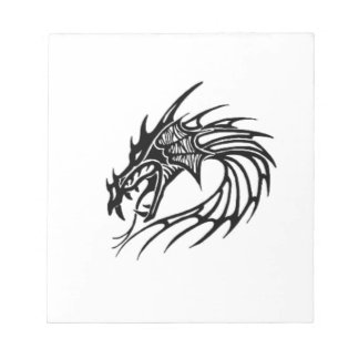 Black dragon notepad
