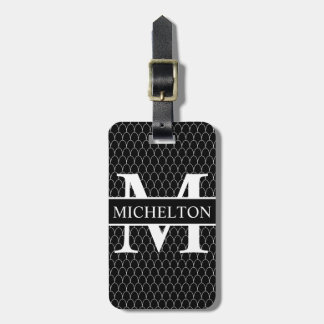 Black Dragon Scale Personalized Bag Tag