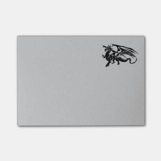Black Dragon Silhouette Post-it Notes