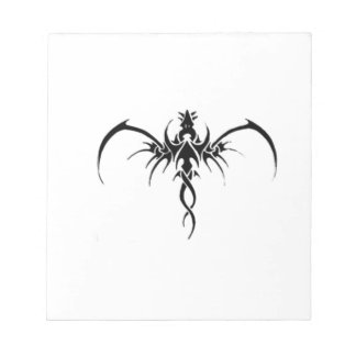 Black dragon tattoo notepad