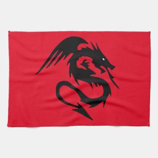 Black dragon tea towel
