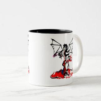 Black Dragon Two-Tone Coffee Mug